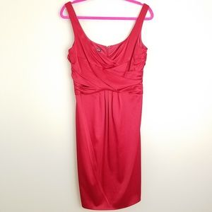 Jones wear dress red cocktail sleeveless size 10